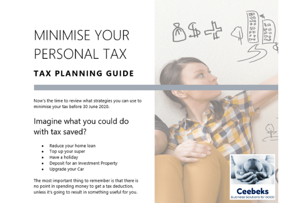 Ceebeks Business Solutions for GOOD - Minimise your personal tax - Tax Planning Guide